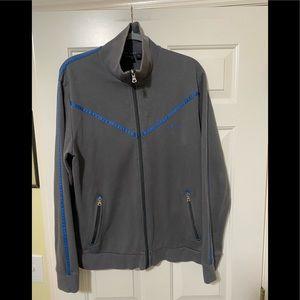 Hugo Boss Designer zip up gray jacket L